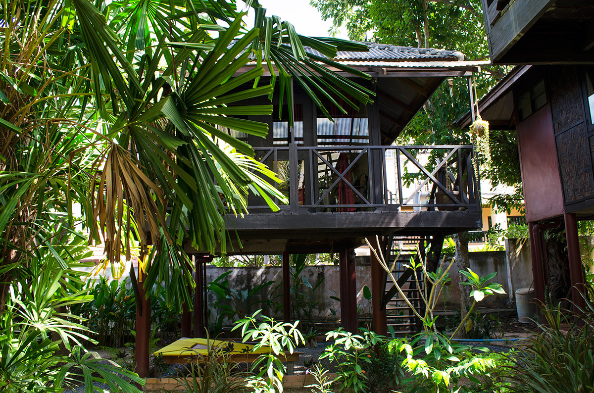 The bungalow we rented in Koh Lanta, Thailand