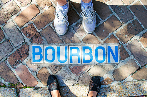We stayed with a Couchsurfing host who lived on Bourbon Street during our trip to New Orleans, Louisiana